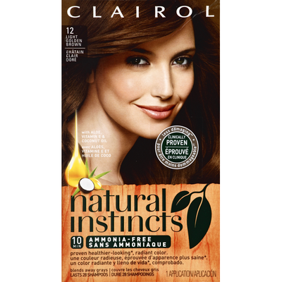 Clairol Natural Instincts Non-Permanent Color, Light Golden Brown 12