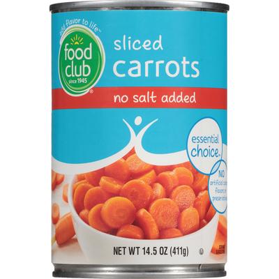 Food Club No Salt Added Sliced Carrots