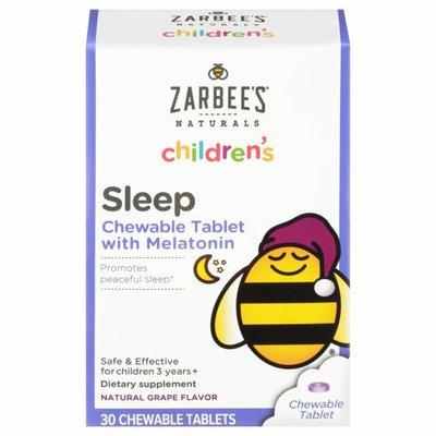 Zarbee's Naturals Children's Sleep with Melatonin, Grape