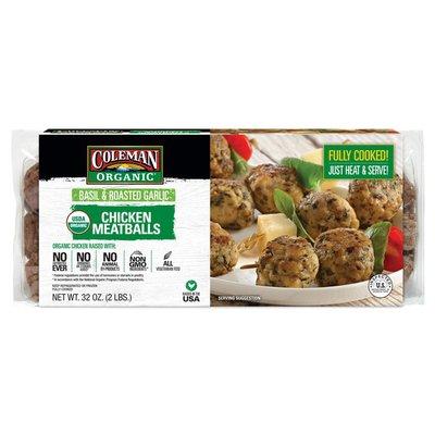 Coleman Basil Roasted Garlic Chicken Meatballs