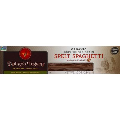 Nature's Legacy Spaghetti, Spelt, 100% Whole Grain, Organic