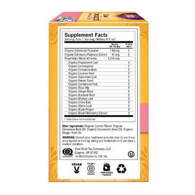 Yogi Tea Herbal Tea. Echinacea Immune Support Tea, Supports Immune Function