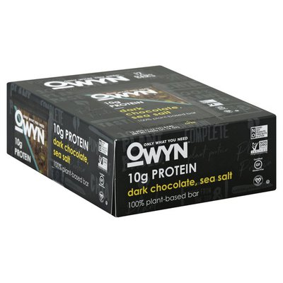 Only What You Need 100% Plant-Based Bar, Dark Chocolate, Sea Salt