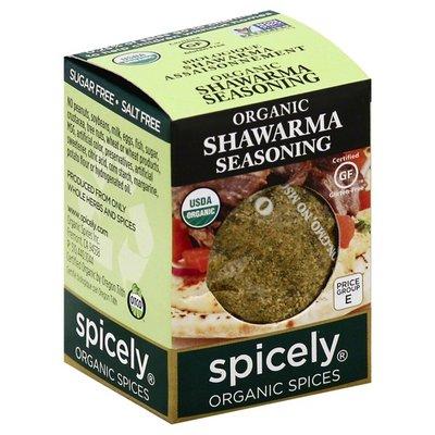 Spicely Organics Seasoning, Shawarma, Organic
