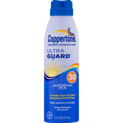 Coppertone Ultra Guard Sunscreen Continuous Spray SPF 30