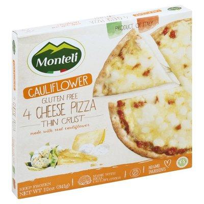 Monteli Pizza, Thin Crust, 4 Cheese, Cauliflower