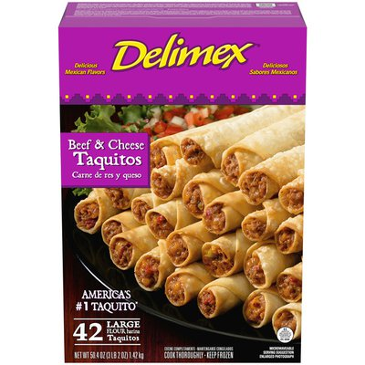 Delimex Beef & Cheese Large Flour Taquitos Frozen Snacks