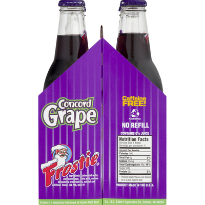 Frostie Soda, Caffeine Free, Concord Grape