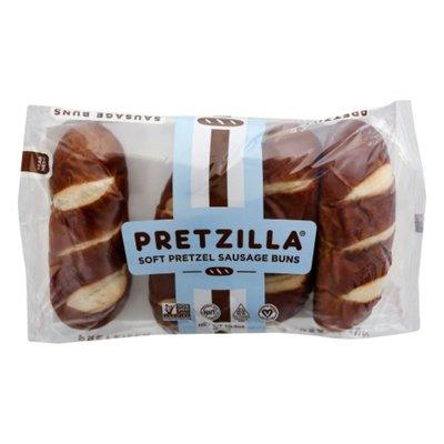 Pretzilla Sausage Buns, Soft Pretzel
