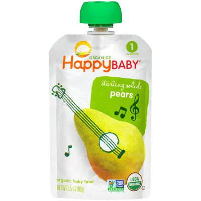 Happy Baby Starting Solids Pears Organic Baby Food