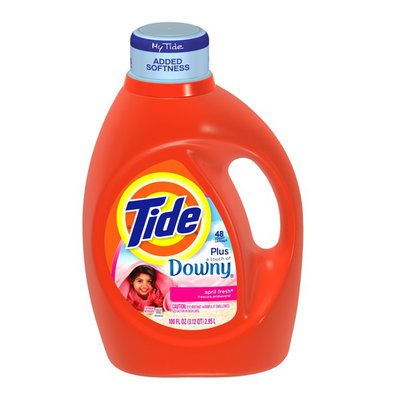 Tide with Touch of Downy April Fresh Scent Liquid Laundry Detergent 100 Fl Oz