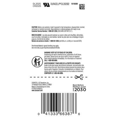 Duracell Batteries, Lithium, 2025, 3V, 2 Pack
