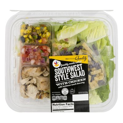 SB Southwest Style Salad with Chicken and Barbecue Ranch Dressing