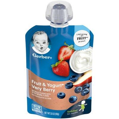 Gerber Toddler Food, Fruit & Yogurt Very Berry