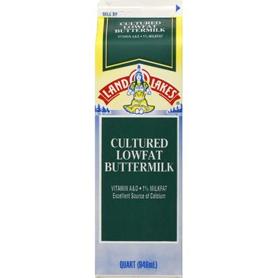 Land O Lakes Buttermilk, Cultured, Lowfat, 1% Milkfat