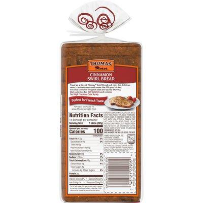 Thomas' Cinnamon Swirl Bread made with real Indonesian Cinnamon