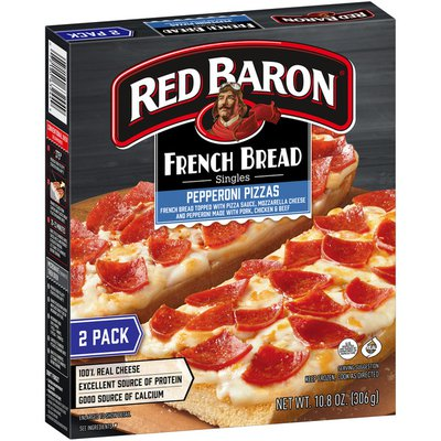 Red Baron French Bread Singles Pepperoni Pizzas