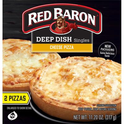 Red Baron Deep Dish Cheese Pizza Singles