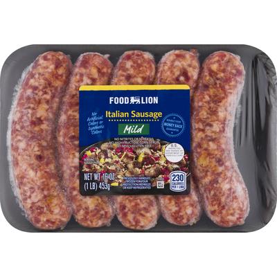 Food Lion Italian Sausage, Mild