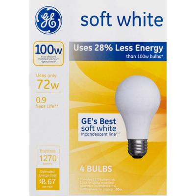 GE Lightbulbs Soft White 100W