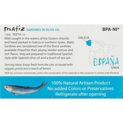 Matiz Wild Sardines in Spanish Olive Oil
