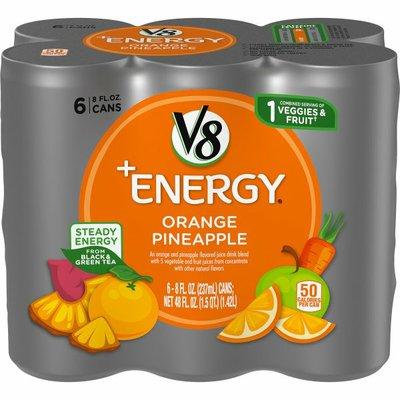 V8 V-Fusion + Energy Orange Pineapple Vegetable & Fruit Juice