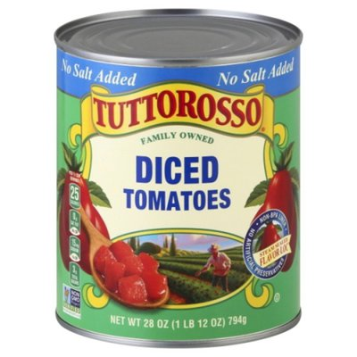 Tuttorosso Tomatoes No Salt Added Diced Tomatoes