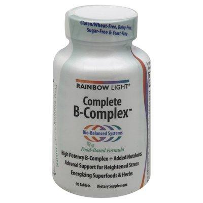Rainbow Light Complete B-Complex, Food Based Formula, Tablets