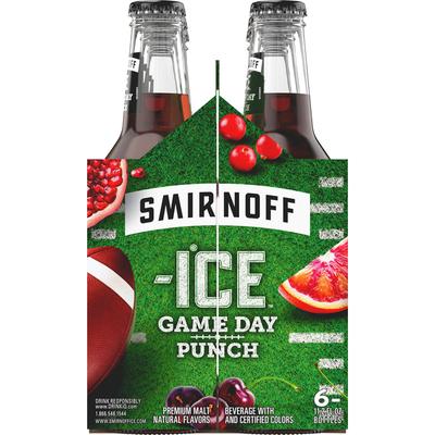 Smirnoff Malt Beverage, Premium, Game Day Punch, 6 Pack