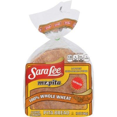 Sara Lee Mr. Pita 100% Whole Wheat Pita Bread