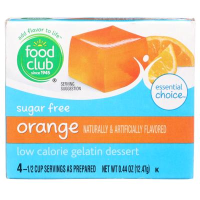 Food Club Orange Sugar Free Low Calorie Gelatin Dessert