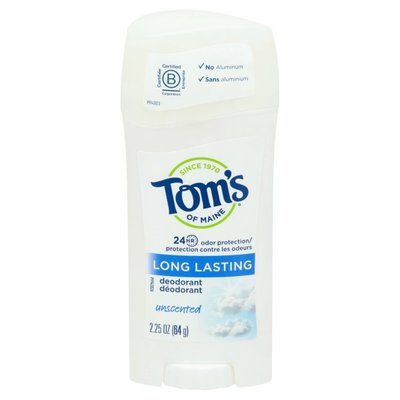 Tom's of Maine Deodorant, Unscented, Long Lasting