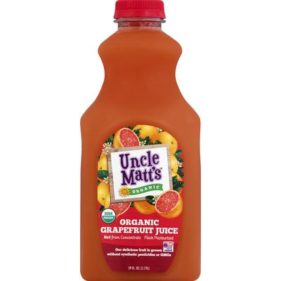 Uncle Matt's Organic Juice, Organic, Grapefruit