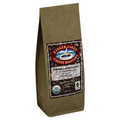Finger Lakes Coffee Roasters Coffee, Organic/Fair Trade Certified, Ground, Finger Lakes Decaf