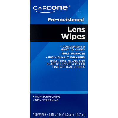 CareOne Pre-Moistened Lens Wipes