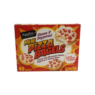 Signature Kitchens Pizza Bagels, Mini, Cheese & Pepperoni
