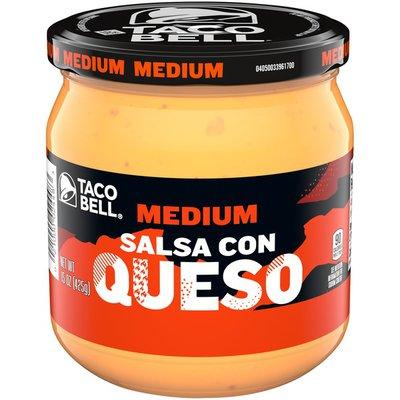 Taco Bell Medium Salsa Con Queso Cheese Dip