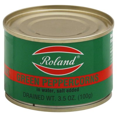 Roland Green Peppercorns, in Water, Salt Added