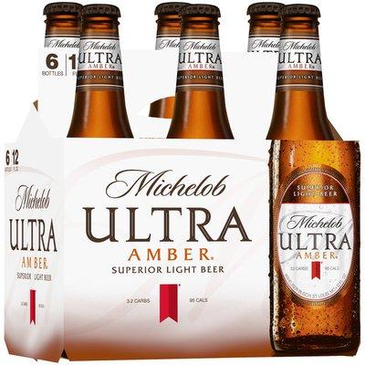 Michelob Ultra Amber Light Beer Bottles