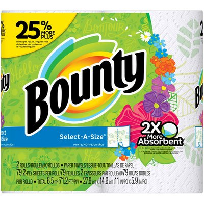 Bounty Select-A-Size Print Paper Towels
