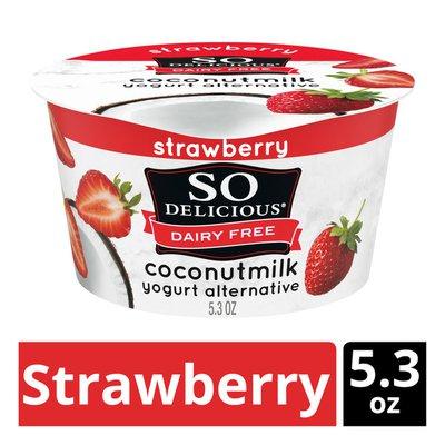 So Delicious Dairy Free Coconut Milk Strawberry