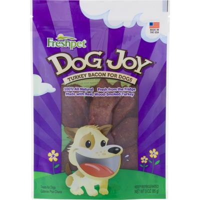 Freshpet Dog Treats Dog Joy Turkey Bacon for Dogs