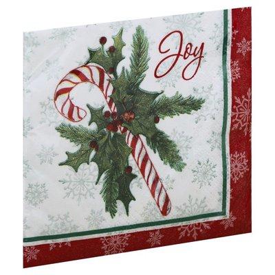 Unique Napkins, Candy Cane Christmas, 2 Ply