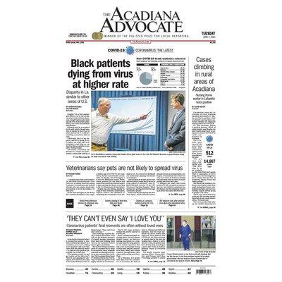 Acadiana Advocate Tuesday Newspaper