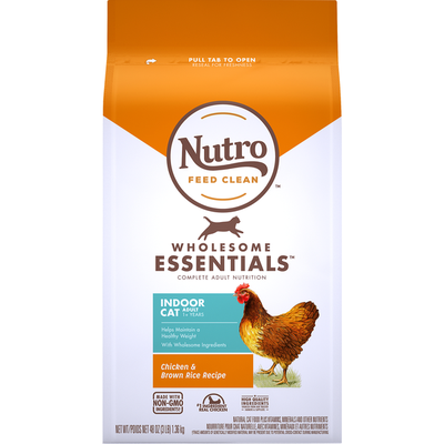 NUTRO Feed Clean Wholesome Essentials Chicken & Brown Rice Recipe Cat Food