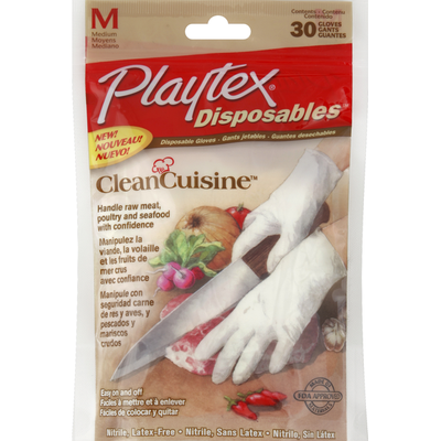 Playtex Gloves, Disposable, Medium