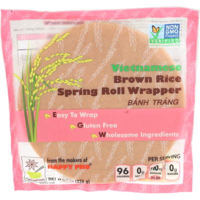 Star Anise Foods Spring Roll Wrapper, Vietnamese, Brown Rice