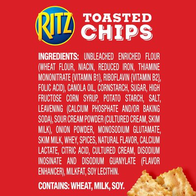 Ritz Toasted Chips, Sour Cream & Onion Flavored
