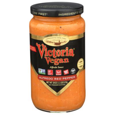 Victoria Vegan Alfredo Red Pepper Sauce