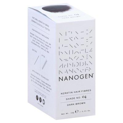 Nanogen Keratin Hair Fibres, Dark Brown, Shade No. 04